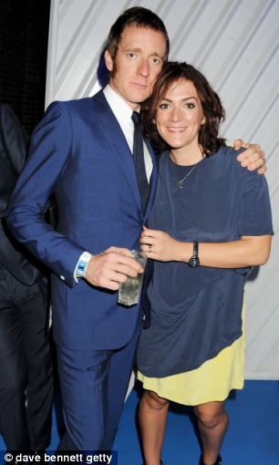 Olympic Gold Medalist Bradley Wiggins and wife Catherine Wiggins at a secret concert by The Stone Roses this summer