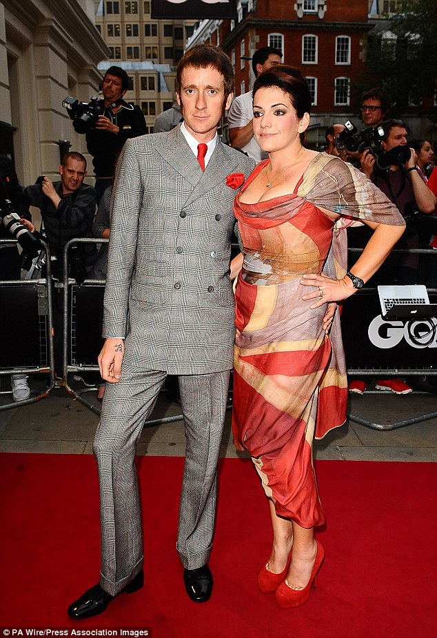Bradley Wiggins and wife Catherine at the 2012 GQ Men Of The Year Award