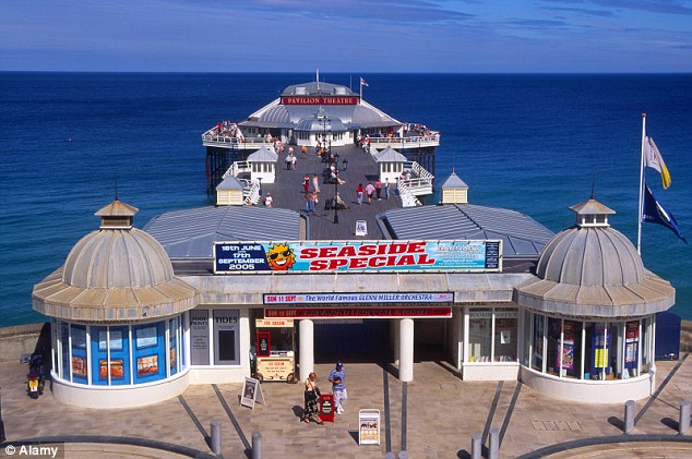 Not exciting: Mr Thomas said that earlier this year he went to the End of the Pier Show (pictured) in Cromer, Norfolk, but 'believe me - that's been pretty much the highlight of my overnight stays'