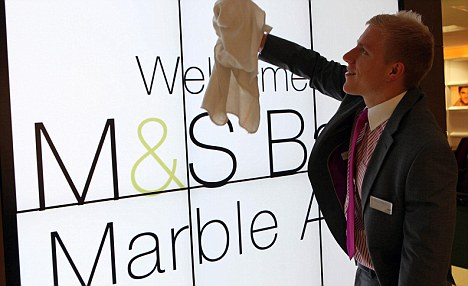 Rate cut: M&S has slashed its rates for loans between £7,500 and £15,000 from 5.8 per cent to 5.5 per cent.