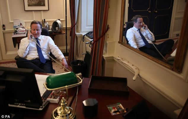 After the TV showdown, Mr Cameron returned to Downing Street where he took a call from US President Barack Obama. He congratulated him on his his re-election