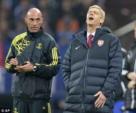 Under pressure: Arsenal manager Arsene Wenger
