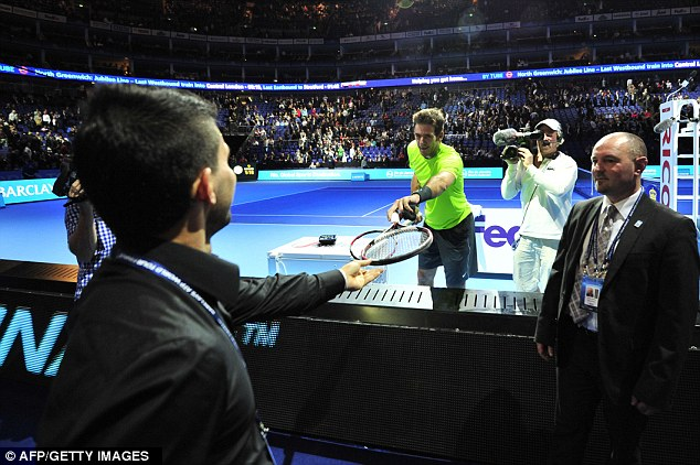 Exhibition stuff: Aguero attended The O2 last year to watch Del Potro beat Janko Tipsarevic