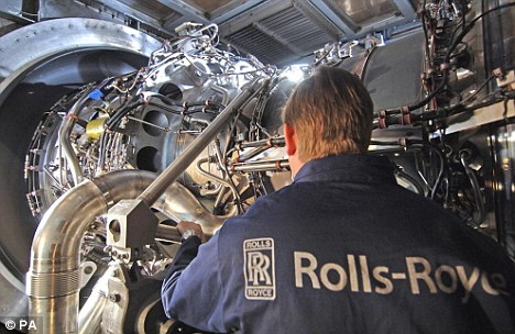 Meeting expectations: Rolls-Royce said it would hit its full year profit target