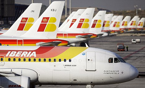 Turnaround plan: Shares in International Airlines Group were up after a rescue package was revealed for ailing Spanish carrier Iberia.