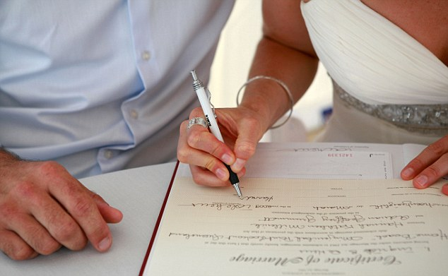 Name change: Hundreds of British newlyweds have already merged their surnames
