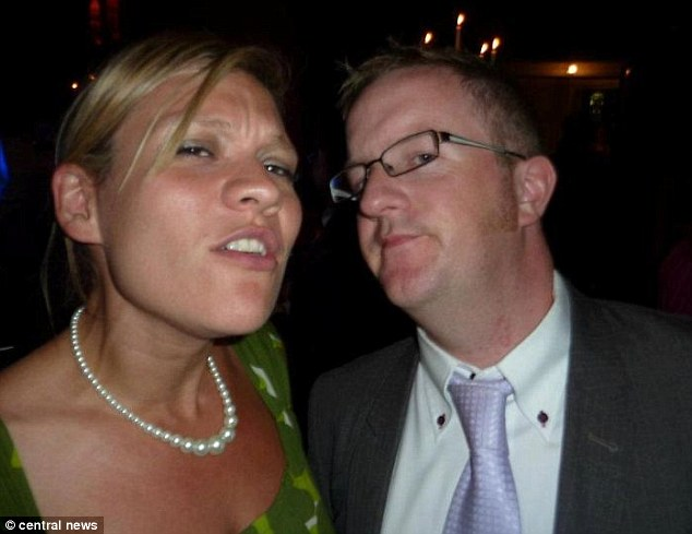 Happier times: Phillip Sherriff pictured with his wife Jane, whom he was with for 15 years