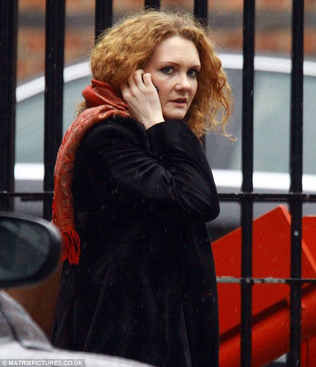 Tragic news: Jennie McAlpine looked upset as she headed for home after a day on set
