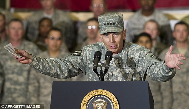 Command: Petraeus took over as head of coalition troops in Afghanistan in 2010