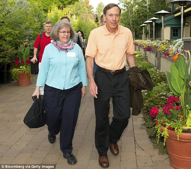 Spouses: David and Holly Petraeus have been married for over 37 years