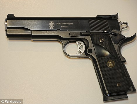 'Stopping power': a .45-caliber handgun, known around the world for its effectiveness and power