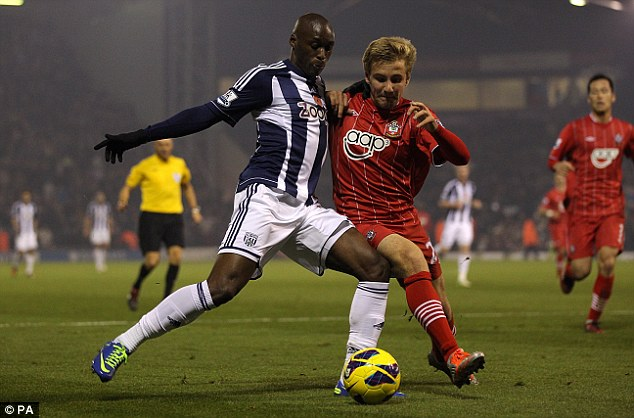 Young prospect: Luke Shaw (right) makes his first Premier League start for Southampton