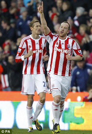 Great Scot: Charlie Adam gave Stoke the lead