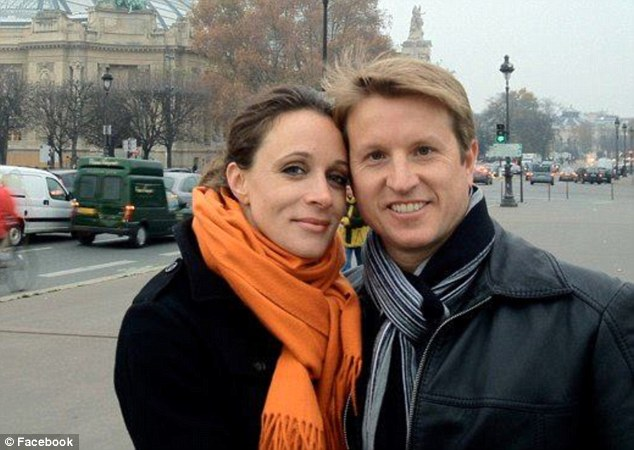 Husband and wife: Paula Broadwell pictured with her husband and father of her children, Scott, a radiologist