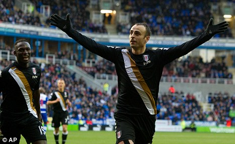 Happy days: Berbatov is enjoying his football since moving to Fulham