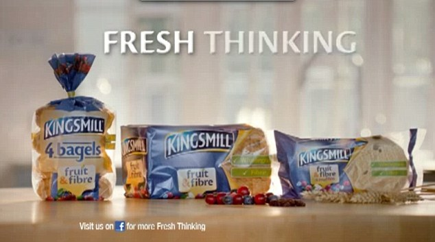 'Fresh thinking': The advert is part of a £4million advertising campaign to promote Kingsmill's fruit and fibre bread