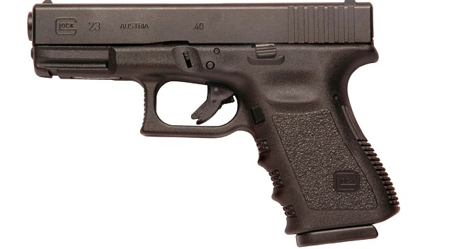 Pistol: A 9mm Glock similar to the one presented to Sgt Danny Nightingale. File picture