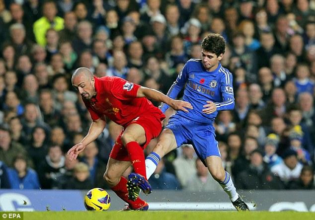 Case for the defence: Enrique (left) was impressive for Liverpool