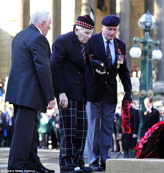 Tribute: Thousands of people had gathered in Bristol to pay their respects to the millions of people who had fought and died for their country