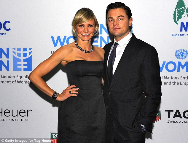 Getting the party started: Leo and his friend Cameron Diaz kicked off the night by hosting the TAG Heuer Celebrates A Night Under The Stars LINK And Benefit UN Women And New York Cares' Sandy Relief Effort