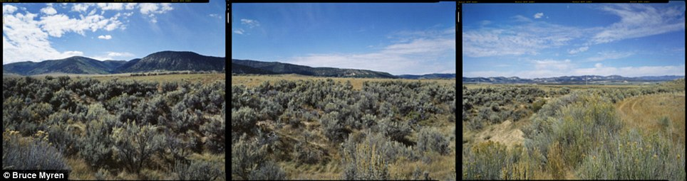 """Grand: The mountains tower over the sagebrush in Meeker, Colorado, N 40° 00' 00"""" W 108° 00' 00"""""""