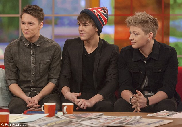 Not going anywhere: District 3 vow to start writing their album and gig some more following their exit from the X Factor on Sunday night