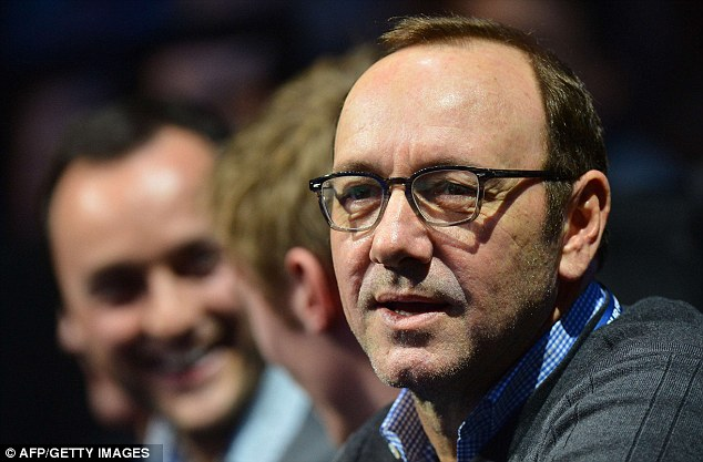 No 1 fan? Actor Kevin Spacey was in the crowd watching the match