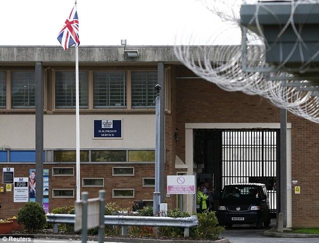High-security: The vehicle ferrying radical Muslim cleric Abu Qatada leaves Long Lartin prison in South Littleton