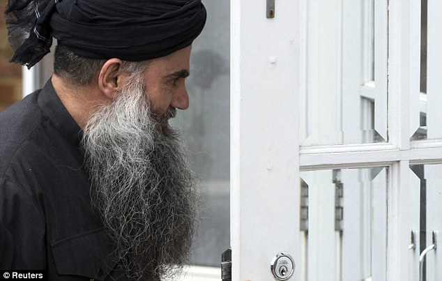 Front-door: Abu Qatada returned home this week after his second period of time in prison. Housing benefit is understood to cover his current rent of £1,900 a month