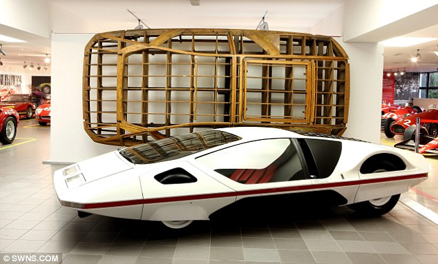 Futuristic: The Ferrari Modulo from 1970, a concept car designed following the release of 2001: a Space Odyssey