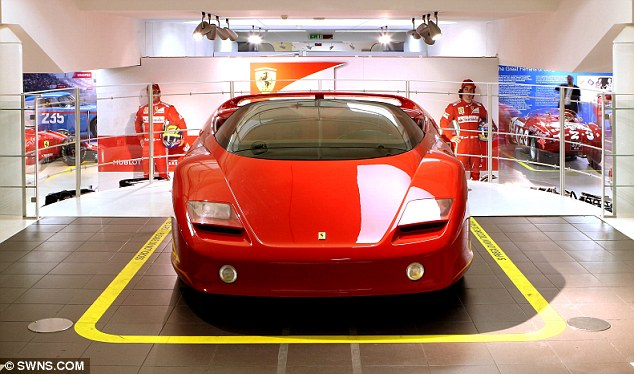 Concept car: The 1989 Ferrari Mythos. The machine was not intended for sale to the public, although it is understood the Sultan of Brunei owns two