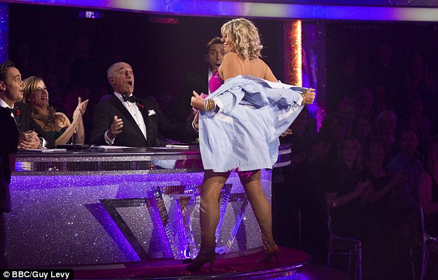 Strip-ly come dancing: Fern Britton stunned the judges and the audience as she made her Strictly goodbye