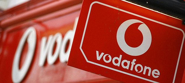 Mobile misery: It was a bad day at the office for Vodafone as its shares fell 2 per cent after reporting interim losses of £492 million.