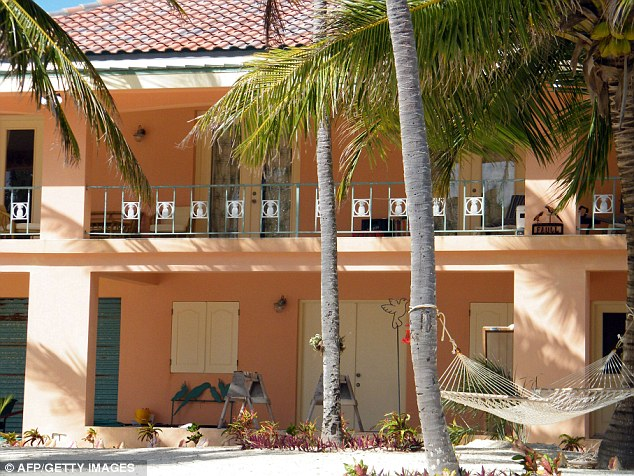 Scene of the crime: This is the house where Faull was murdered in Ambergris Caye, Belize between the night of November 10th and Sunday November 11th