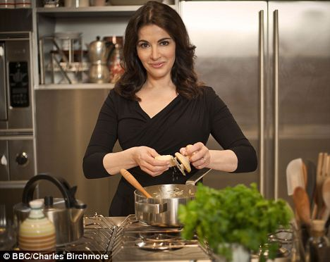 Rich treats: Nigella Lawson is a TV chef known for her indulgent recipes