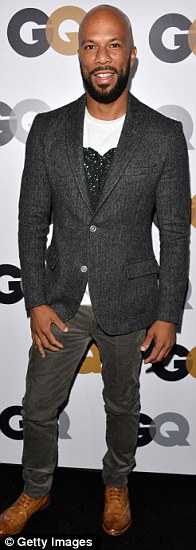 Men in grey: Common, Actor Tony Goldwyn and Musician Kid Cudi