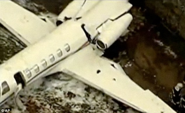'Could have been a lot worse': The force of the impact split the fuselage in two, but did not cause a fire
