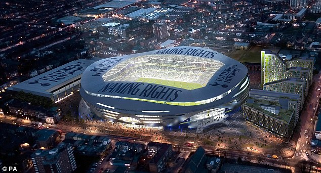 Vision: Tottenham have turned their attentions to a new stadium