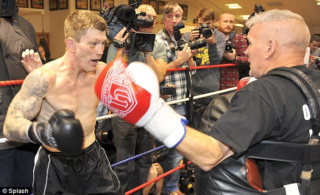 Trim: Ricky Hatton performs a workout ahead of his return to the ring in Manchester