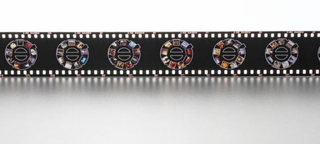 The pictures are printed on Kodak film, with each frame being a mini slide carousel