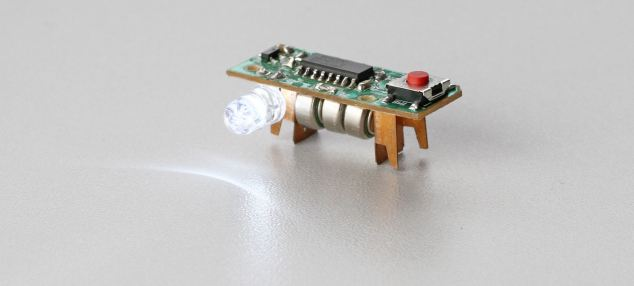 Inside the projector is a single LED light which projects the image when focused