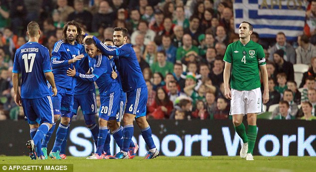 Not tonight: The Republic of Ireland suffered another home defeat against Greece