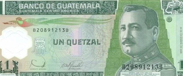 Is it a bird, is it a plane? No, the Quetzal is actually the Guatemalan currency (although 43 per cent of respondents did think it was a bird)