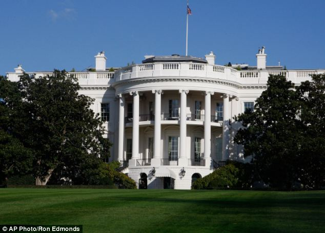 Majestic: The White House in Washington where Mr Galbraith's curtains are hanging