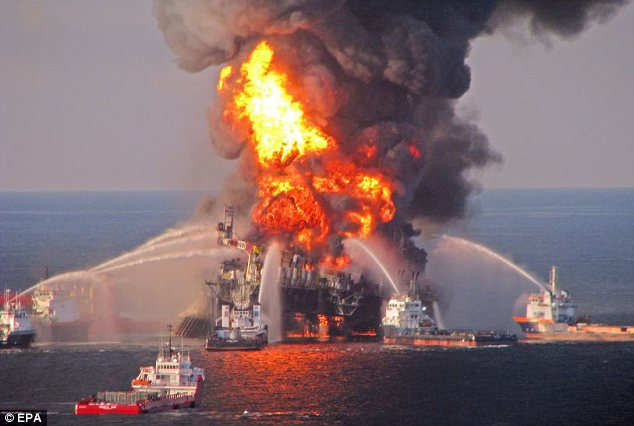 End game: BP has to pay £2.8billion in fines for the Gulf of Mexico oil spill and the legal fees involved in settling cases in Russia and the United States will be mind-boggling