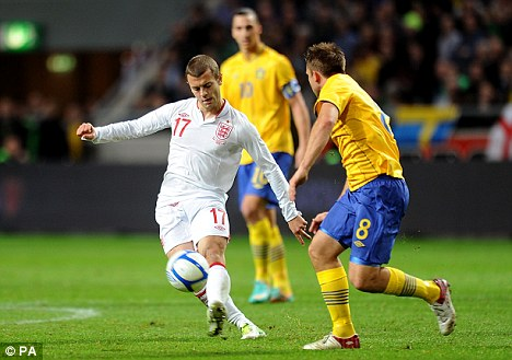 Jack's back: Wilshere came on as a second-half substitute in England's defeat in Sweden