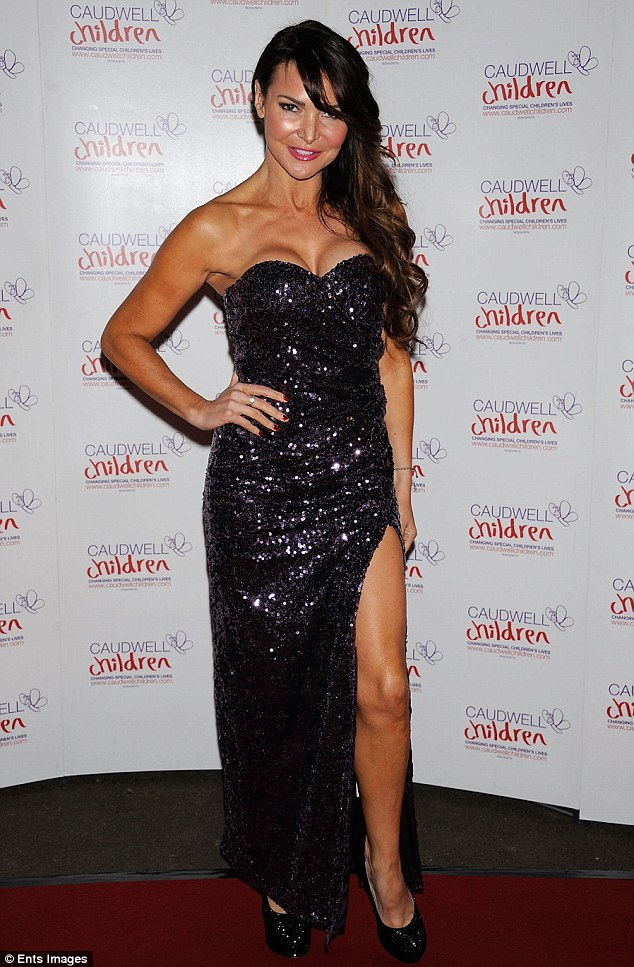 Showing her support: TV presenter  Lizzie Cundy was also seen at teh Caudwell Children's Charity Winter Butterfly Ball