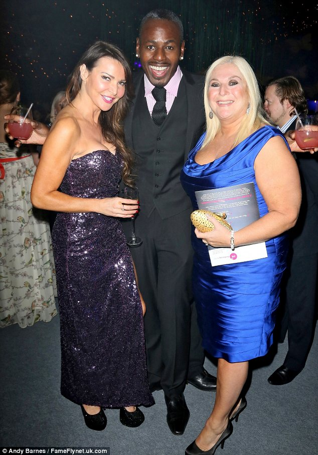 A Michael sandwich! Lizzie Cundy joined Vanessa Feltz and her husband Michael