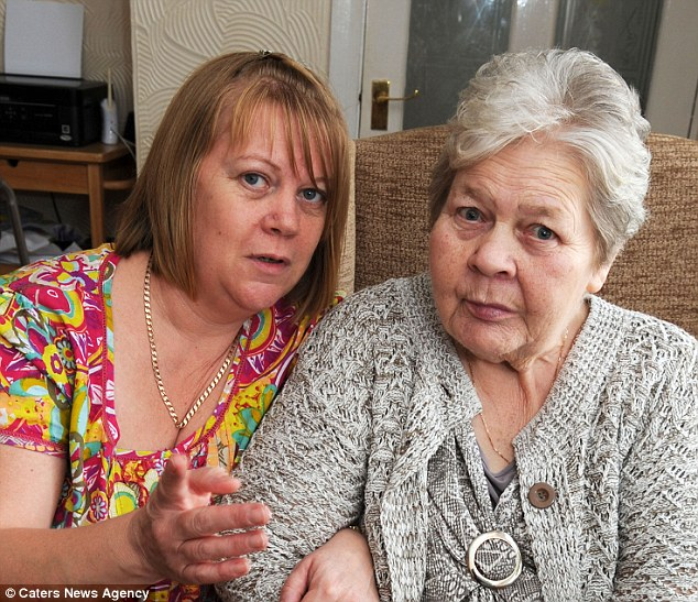 Disgusted: Joy Stafford and her mother, Lily Winfield, 77. Ms Stafford is now launching a complaint about her mother's care.