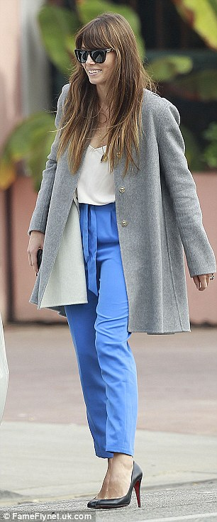 Still stylish: The A-lister hasn't let her style slip now that she's a married woman